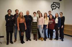 Marina Dukhinova (center) and the members of SCAMT Lab's experimental oncotherapy team. Photo courtesy of Marina Dukhinova
