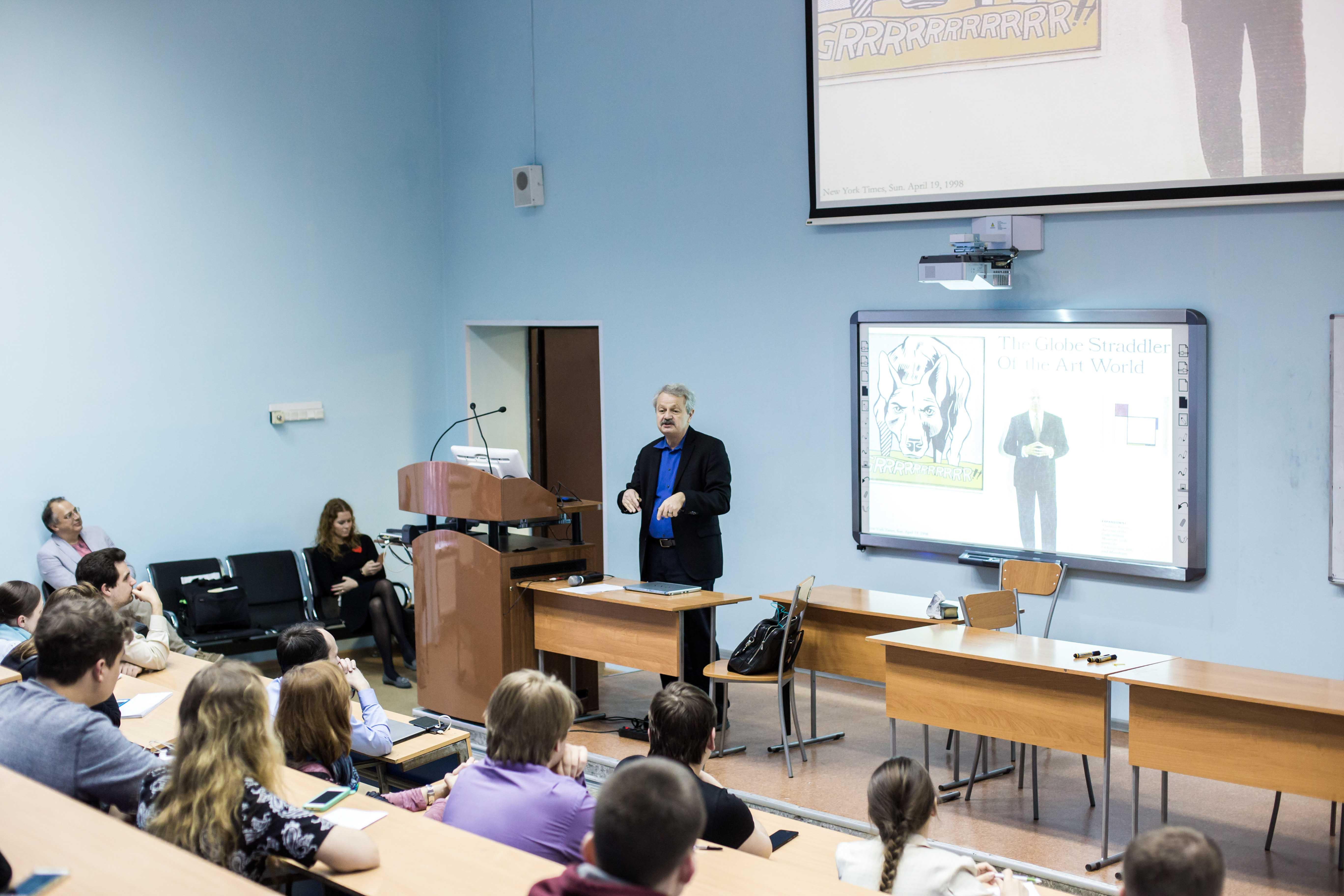 Charles Falco gives lecture at ITMO University
