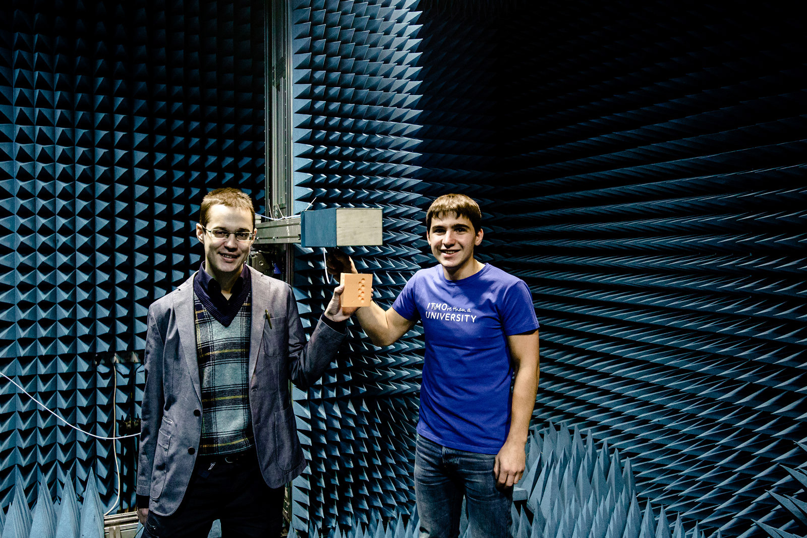 "Dmitry Filonov and Alexey Slobozhanyuk, International Research Center ""Nanophotonics and Metamaterials"""