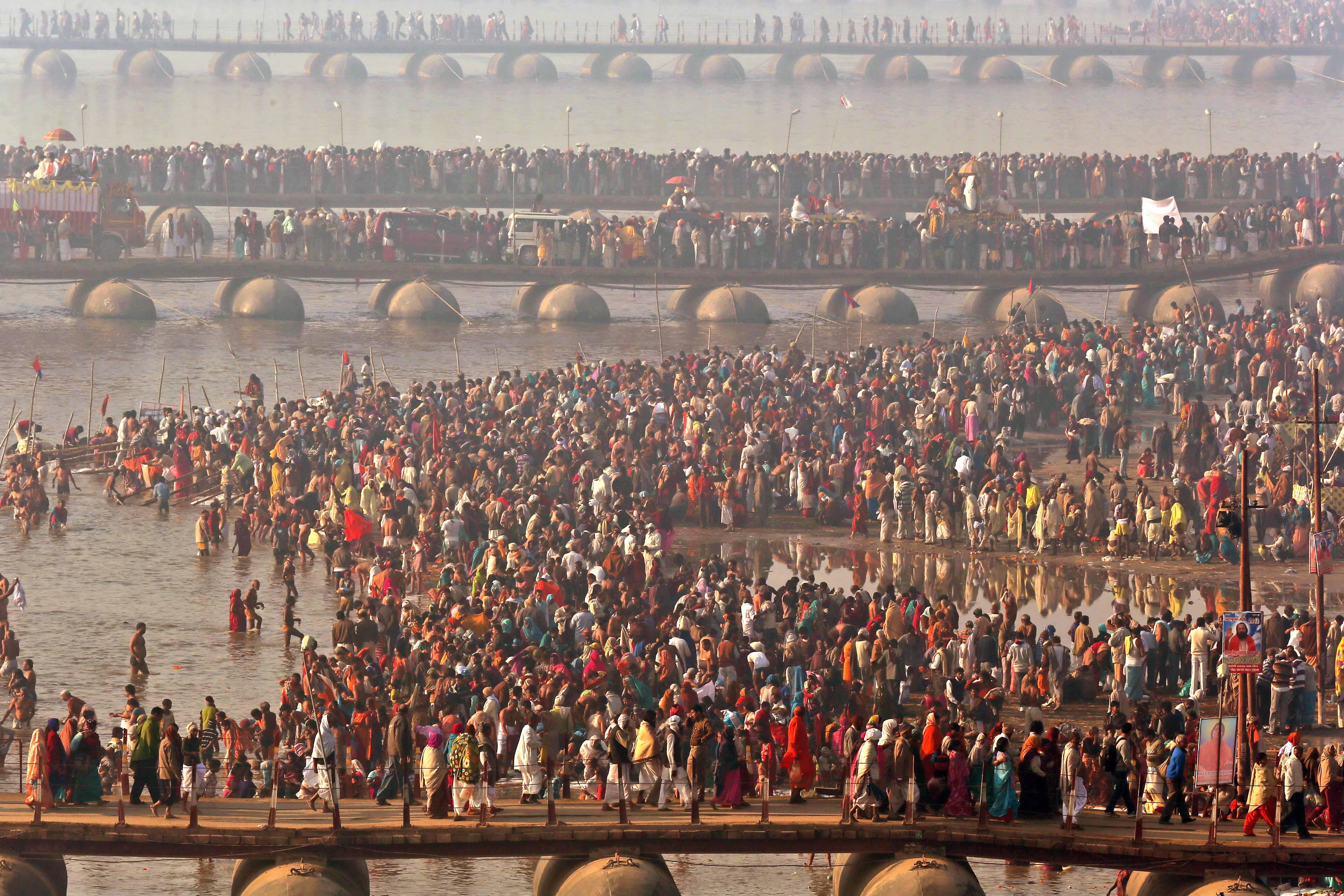 Религиозный фестиваль Кумбха-Мела (Индия). Источник: kumbhmela.com