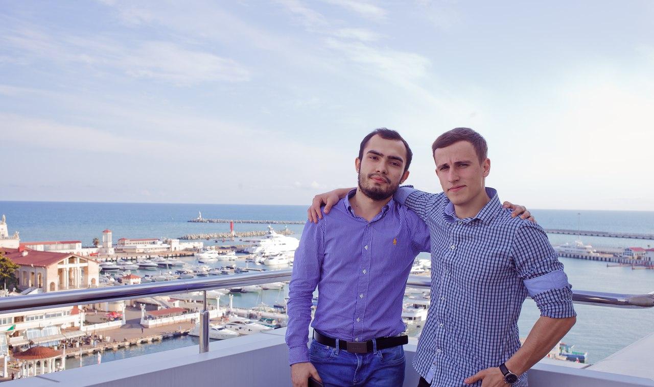Grigory Tkachenko (on the right)