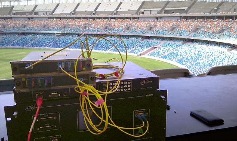Система квантовой криптографии, защищавшая каналы связи на Кубке мира по футболу в Дюрбане (2010)