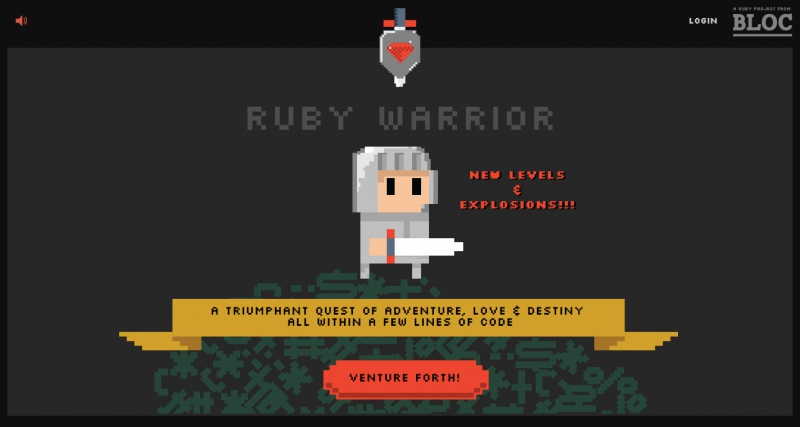 Ruby Warrior. Источник: bloc.io