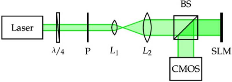 Схема оптической установки. Источник: osapublishing.org