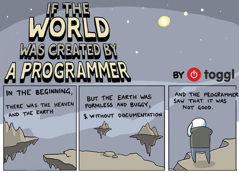 Если бы мир был сотворен программистом. Источник: blog.toggl.com