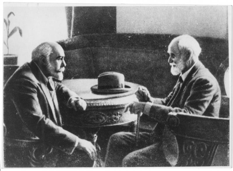 Леон Орбели и Иван Павлов. Фото 1935 года. Источник: regnum.ru