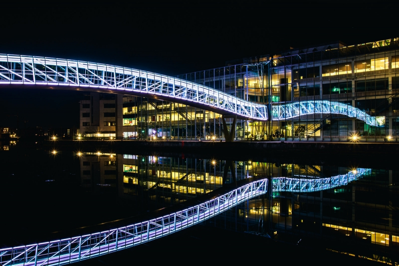The campus bridge at Aalborg University. Credit: gegenwind.dk