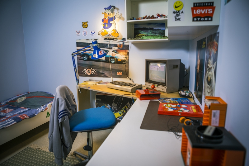 "The ""1990's room"" at the Finnish Museum of Games"