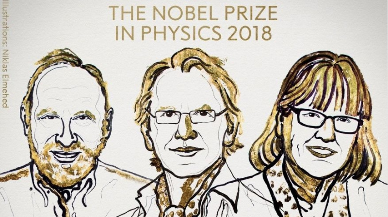 Laureates of the 2018 Nobel Prize in Physics