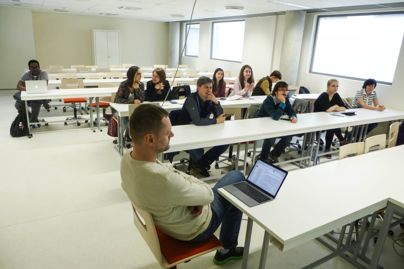 ITMO students at one of Tallinn University's schools