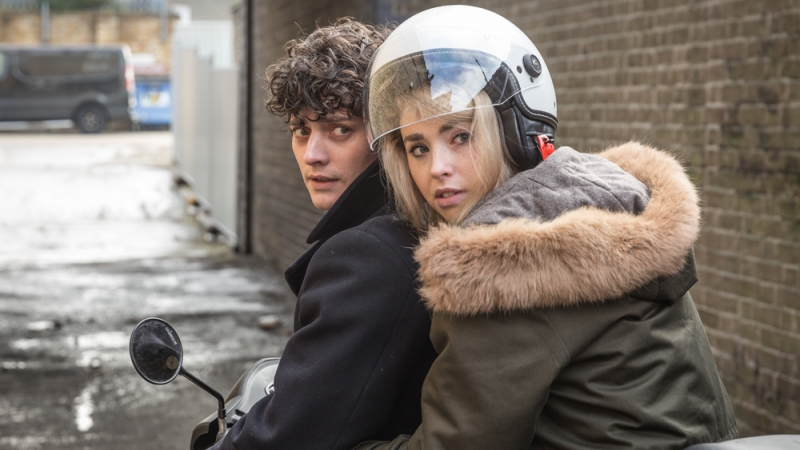 Who gets who? Aneurin Barnard and Freya Mavor in Dead in a Week. Credit: variety.com