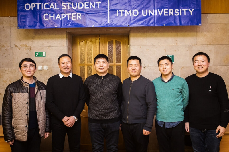 Changchun University of Science and Technology scientists during their internship at ITMO