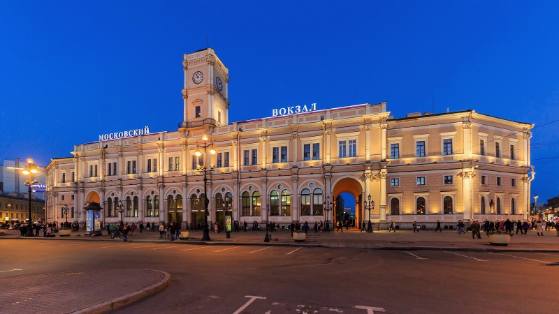 Moskovsky railway station. Credit: neva.today
