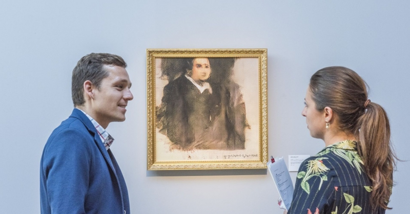 "The AI-made painting ""Portrait of Edmond Belamy"". Credit: cnbc.com"