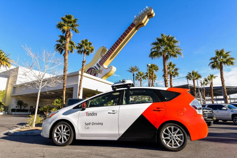 The Yandex driverless car in Las Vegas. Credit: autonews.com