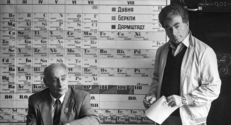Yuri Oganessian (on the right). Credit: ru.armeniasputnik.am