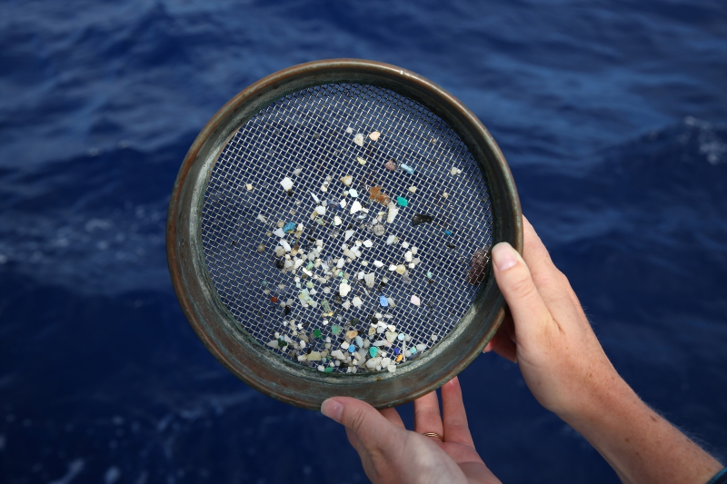 Microplastic in water