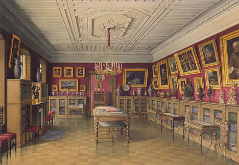 Library of the Stroganov Palace in St. Petersburg. Credit: hermitagemuseum.org