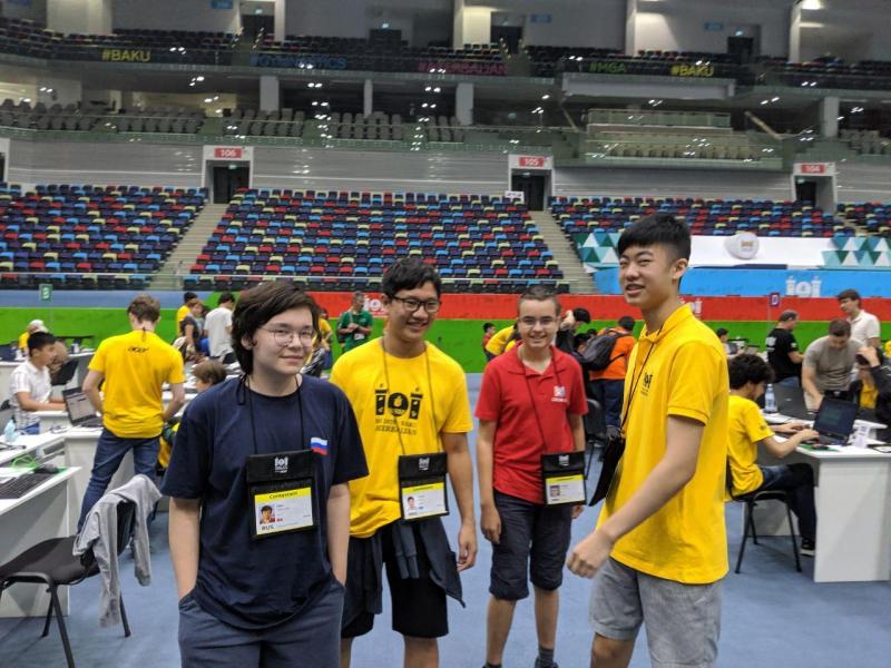 Команда России на Международной олимпиаде по информатике IOI 2019. Источник: оргкомитет олимпиады