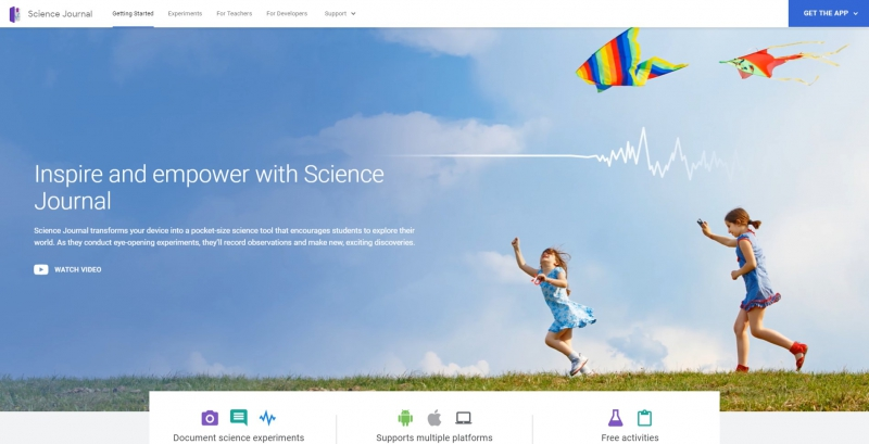 Science Journal. Источник: sciencejournal.withgoogle.com