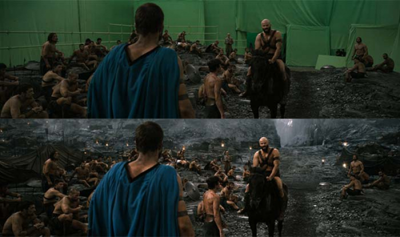 Visual effects in the 300 movie. Credit: india.com