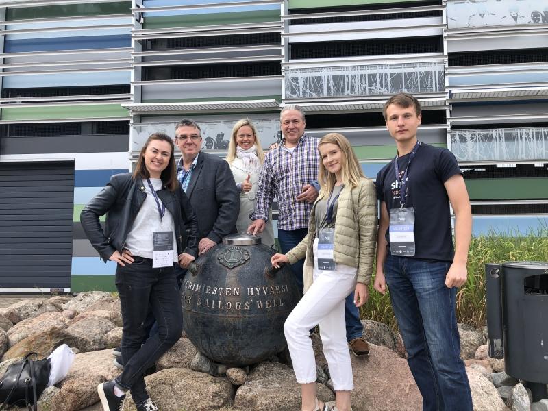 Студенты и сотрудники Университета ИТМО на стартап-фестивале *ship. Фото из личного архива