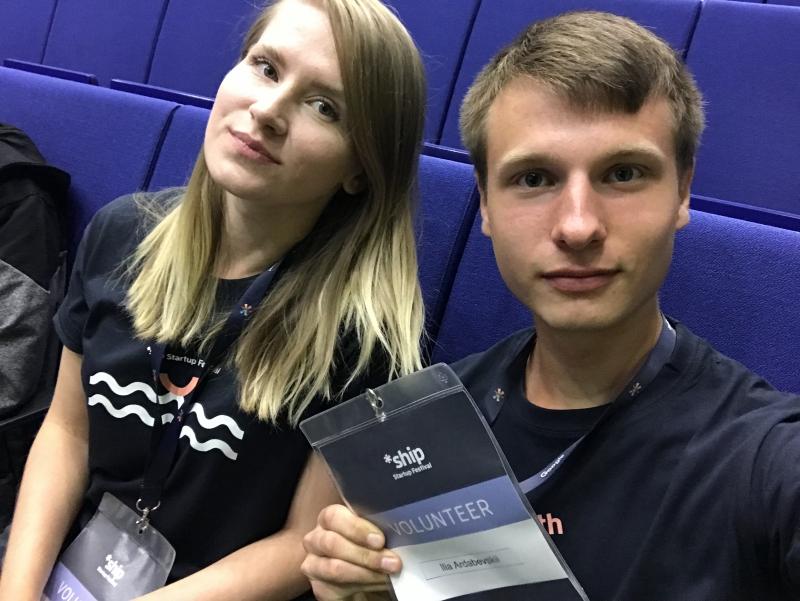 Илья Ардабьевский и Екатерина Кострома на стартап-фестивале *ship. Фото из личного архива