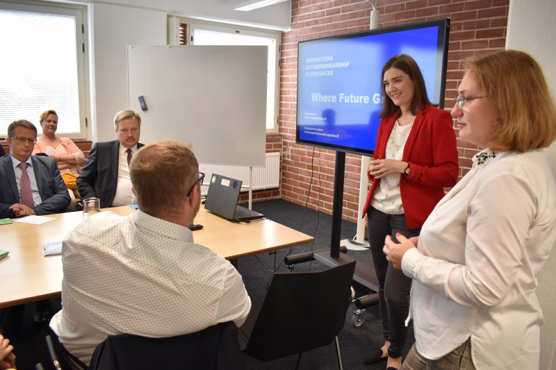 The Russian delegation at the Esa business incubator