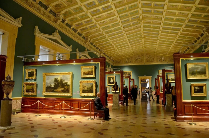 The Tent-Roofed Hall of the Hermitage, and its collection of 17th-century Dutch art. Credit: countryscanner.ru