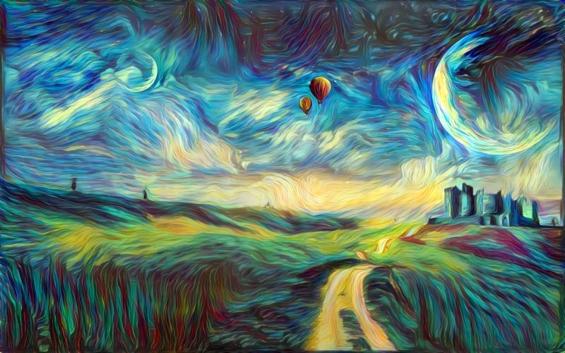 DeepDream. Источник: deepdreamgenerator.com