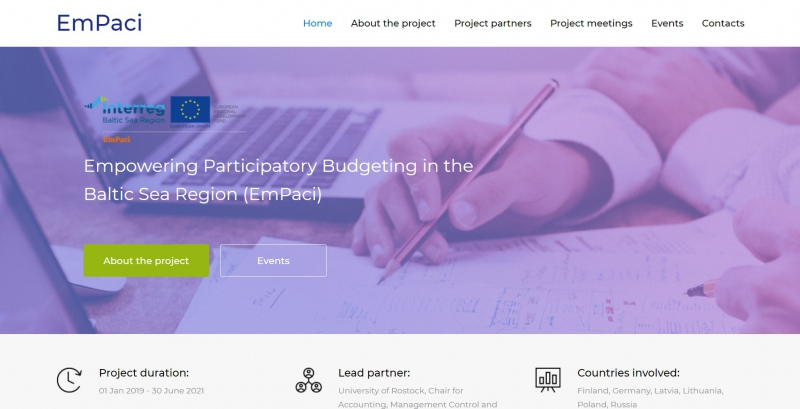 Empowering Participatory Budgeting in the Baltic Sea Region project. Credit: empaci.eu