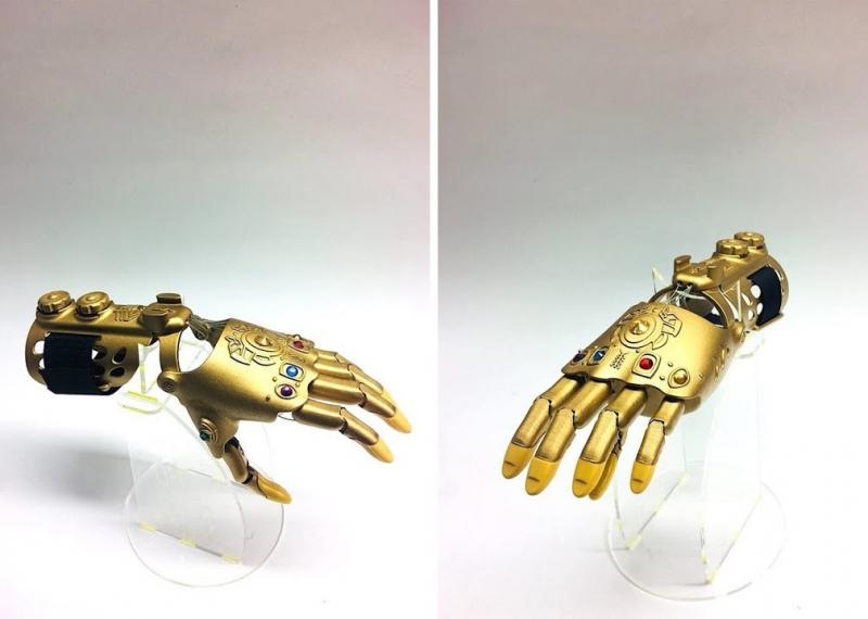 Infinity Gauntlet-inspired prosthesis. Credit: motorica.org