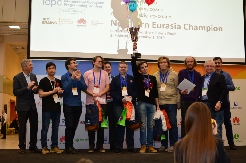 The Northern Eurasia Regional Finals Champions, a team from St. Petersburg State University