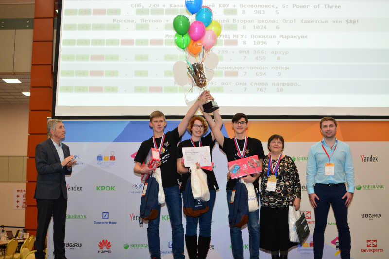The Russian Programming Competition for School Children Winners, a team from Ekaterinburg