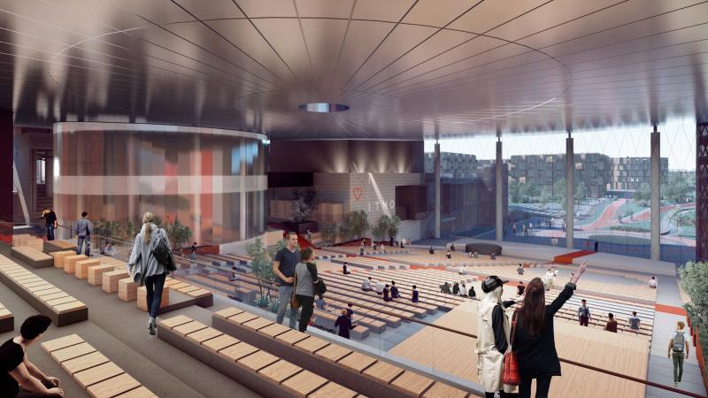 Concept image of ITMO University's second campus in the satellite city Yuzhny. Credit: architectural bureau Studio 44