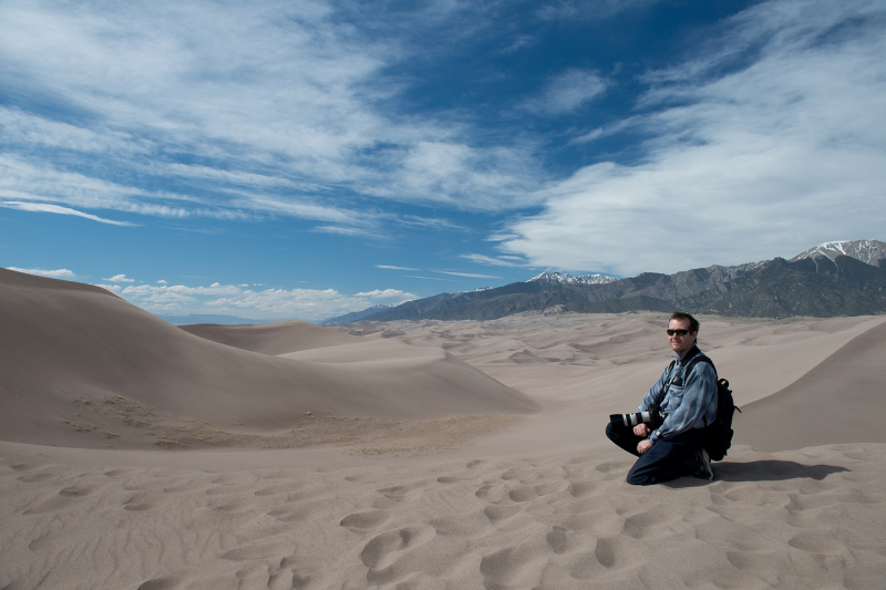 Nikolay Makarov at the Great Sand Dunes National Park in Colorado. Photo courtesy of the subject.