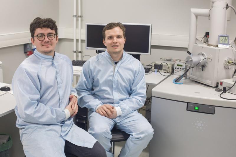 Left to right: Valentin Milichko and Nikita Kulachenkov