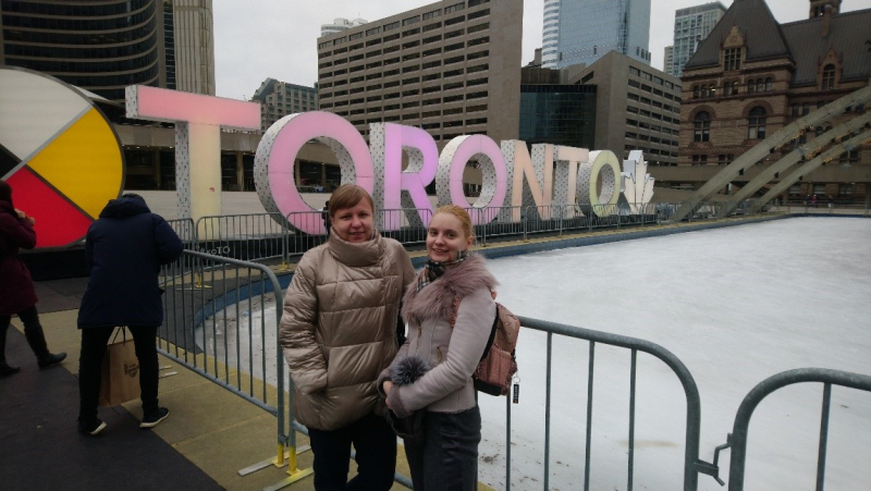 Elena Krivoshapkina and Sofia Morozova in Toronto. Photo courtesy of subjects
