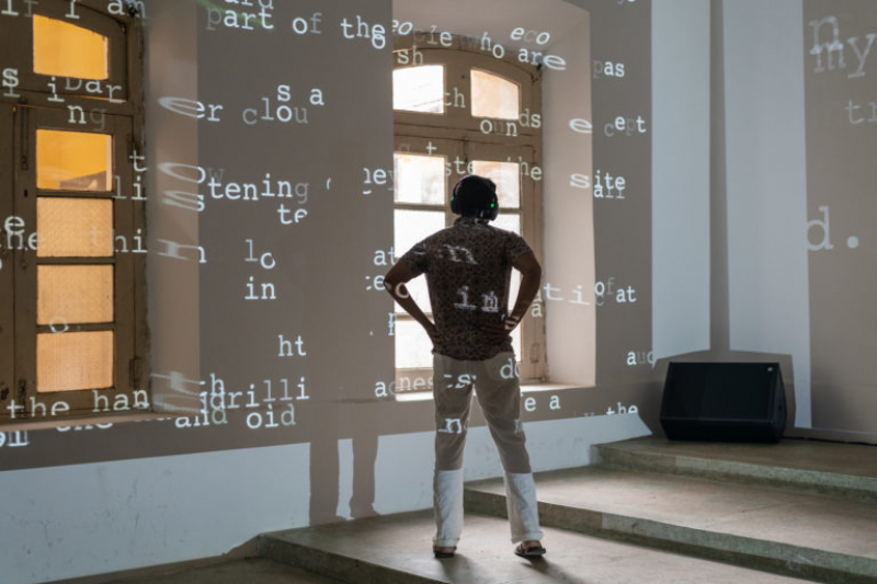 Machine Poetry, an installation by Budhaditya Chattopadhyay. Credit: akusmata.com