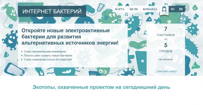 Проект «Интернет бактерий». Источник: internetofbacteria.org