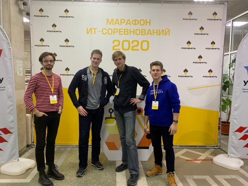 Команда «ИТМО-1»: Валерий Чернов, Александр Смехнов, Артем Егоров, Артем Мышляев. Фото из личного архива