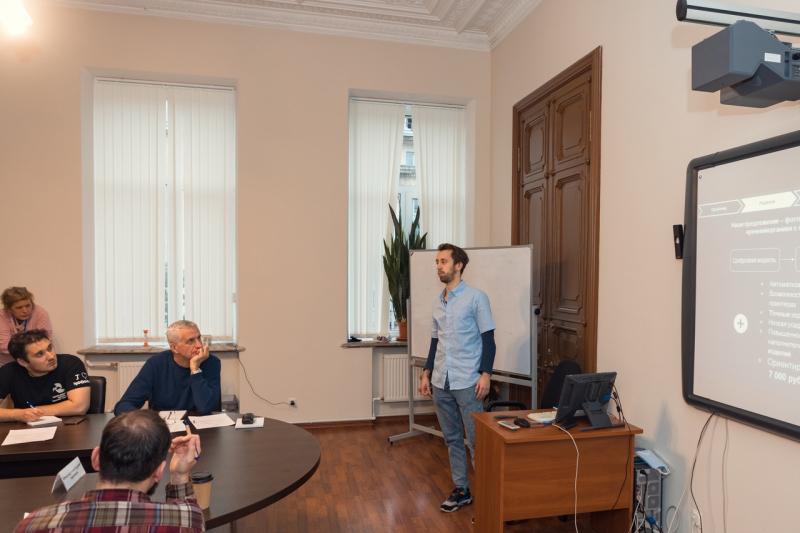 Pavel Talianov at the onsite round of UMNIK