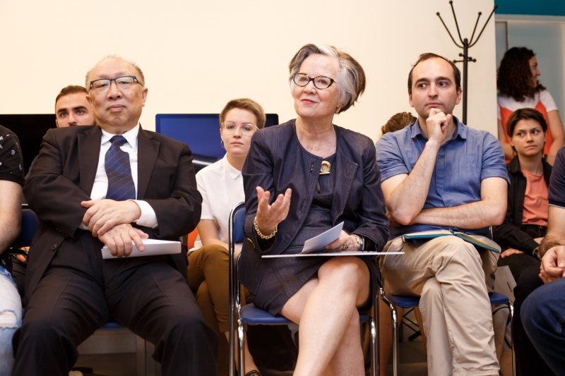 Dr. Debra Stewart (center) at a session of the International Council in 2019