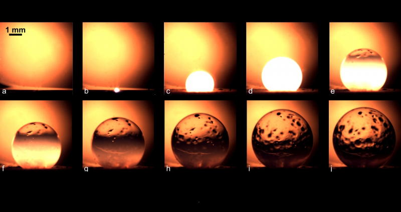 Picture of the Week: Formation of Thin Glass Spheres