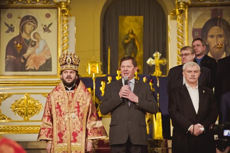 Награждение «Почетным знаком Святой Татьяны» в Смольном соборе