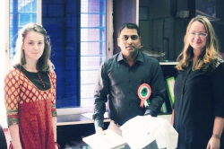 Работы студентов на Pune Biennale