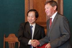 以张国恩校长为首的国立台湾师范大学代表团访问了ITMO大学