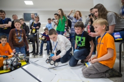 Tournament for Two Capitals: High School Children Presented their Robots